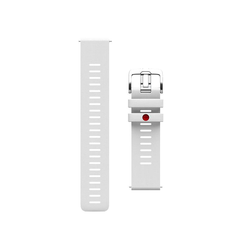 Correa Polar GRIT X, silicona blanca, talla S